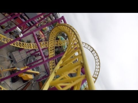 Rage Roller Coaster POV - Adventure Island - Southend Essex, UK England HD
