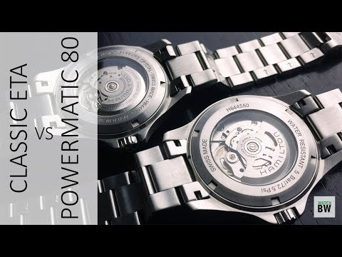 Classic ETA vs Powermatic 80 - Comparing two Hamilton Khaki Kings