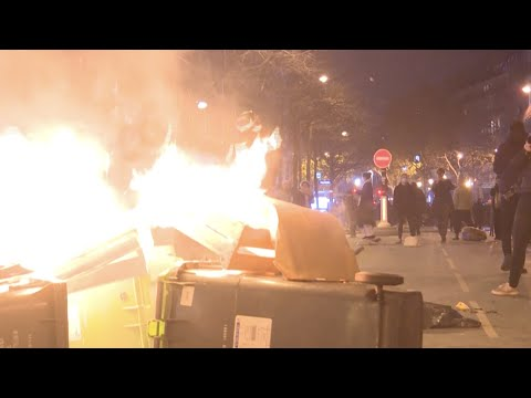 Clashes Between Police And Protesters After Pro-migrant Rally In Paris