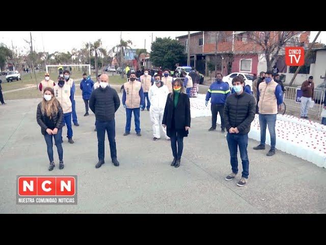 CINCO TV - Juan Andreotti y Malena Galmarini compartieron un operativo de AYSA