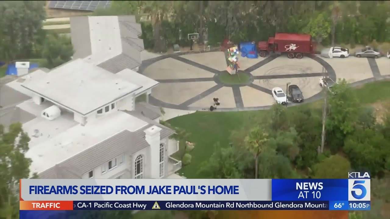 Jake Paul's Calabasas home raided by FBI