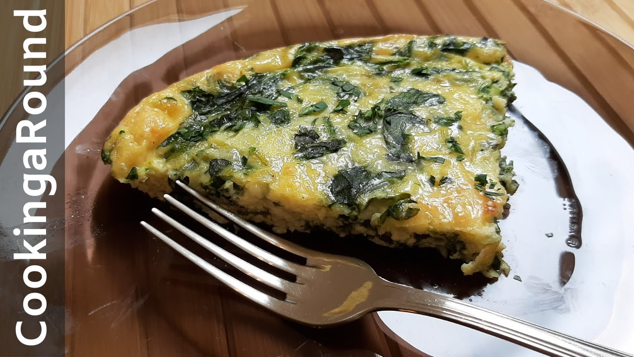 Crustless Spinach Quiche Low In Calories Youtube
