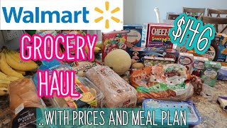 *NEW* $146 WALMART GROCERY HAUL WITH PRICES 🛒 NO CONTACT PICKUP🍽 GROCERY HAUL AND MEAL PLAN💥