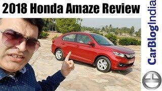 2018 Honda Amaze Review- Petrol & Diesel, Manual & CVT Automatic Test Drive Report