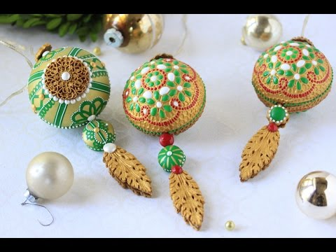 How to Make 3-D Embossed Christmas Ornament Cookies - YouTube