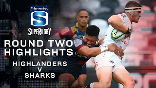 ROUND TWO HIGHLIGHTS | Highlanders v Sharks - 2020
