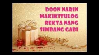 Repeat youtube video Dati Christmas Version Lyrics