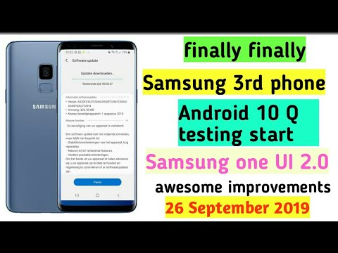 Samsung 3rd phone Android 10 testing start Samsung one UI 2.0
