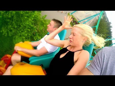 BLONDE GIRL FREAKS OUT ON ROLLER COASTER