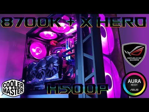 Coffee Lake i7-8700k ROG x Cooler Master H500P Aura Sync Gaming build