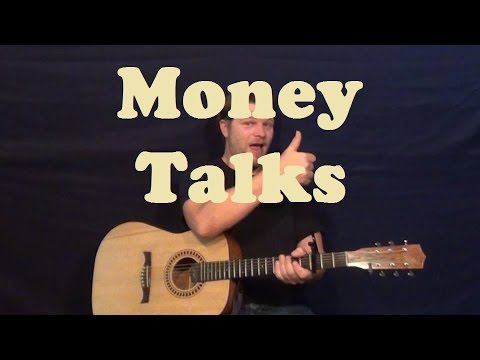 Money Talks (AC/DC) Easy Guitar Lesson Strum Chords Licks How to ...