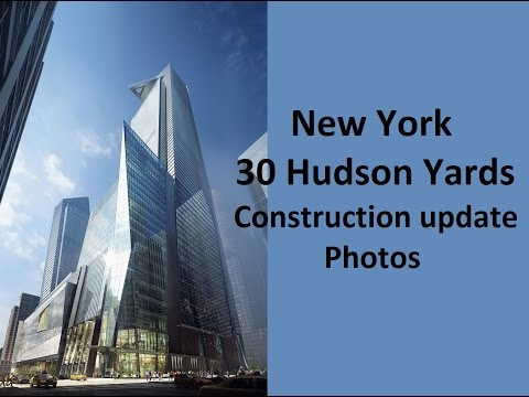NEW YORK 30 Hudson Yards/Manhattan Tower (383m/1268ft) year 2016 construction in photos