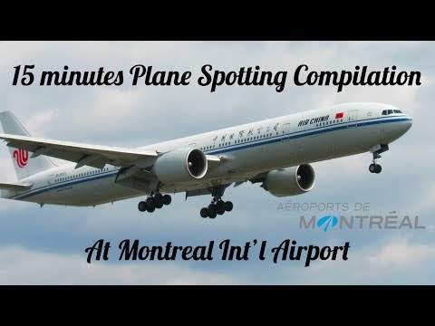 15 Minutes~Plane Spotting Compilation at Montreal Int'l Airport (YUL) With Captions