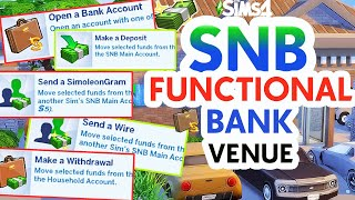 MOST REALISTIC & FUNCTIONAL BANK 💵💰 | SNB BILLS MOD | LOANS & MORE! // The Sims 4 Must Have Mods!