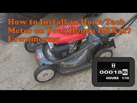 How to install an hour and tachometer on your Honda HRX217 lawn mower