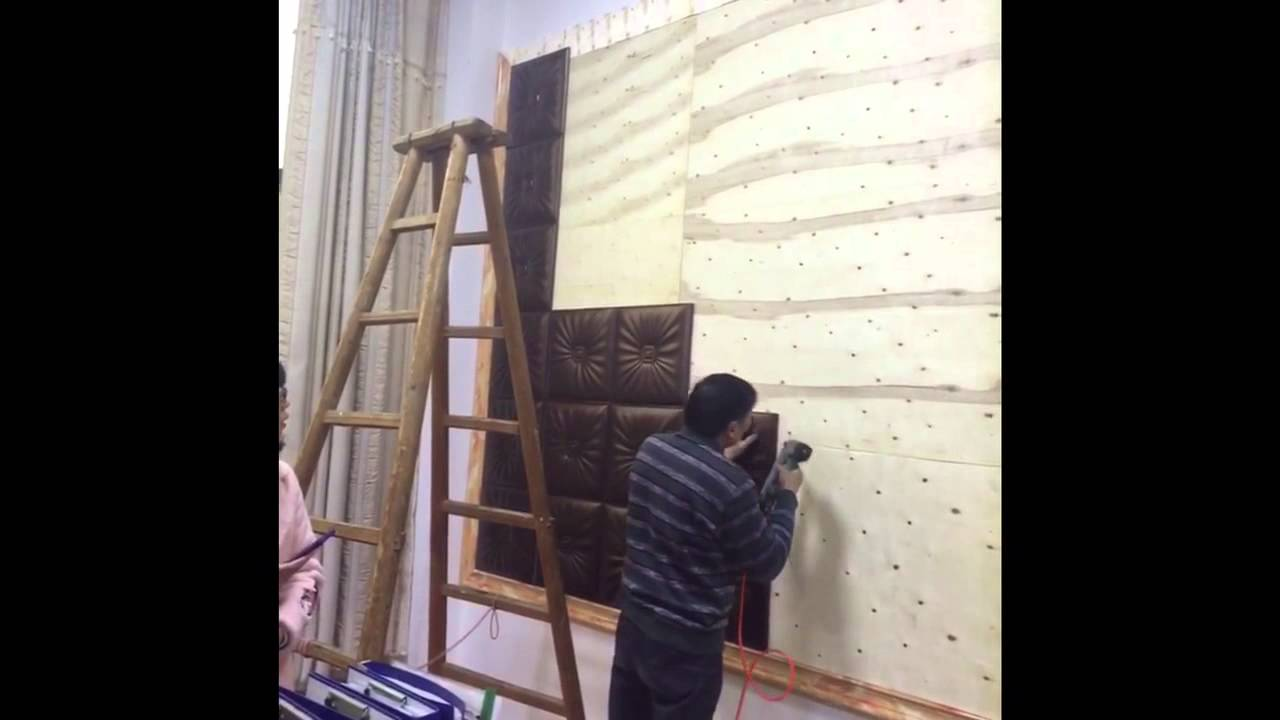 How to install leather wall panel - YouTube