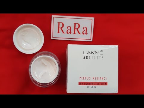 Lakme absolute perfect radiance skin lightening light cream review! fairness cream with sunscreen!