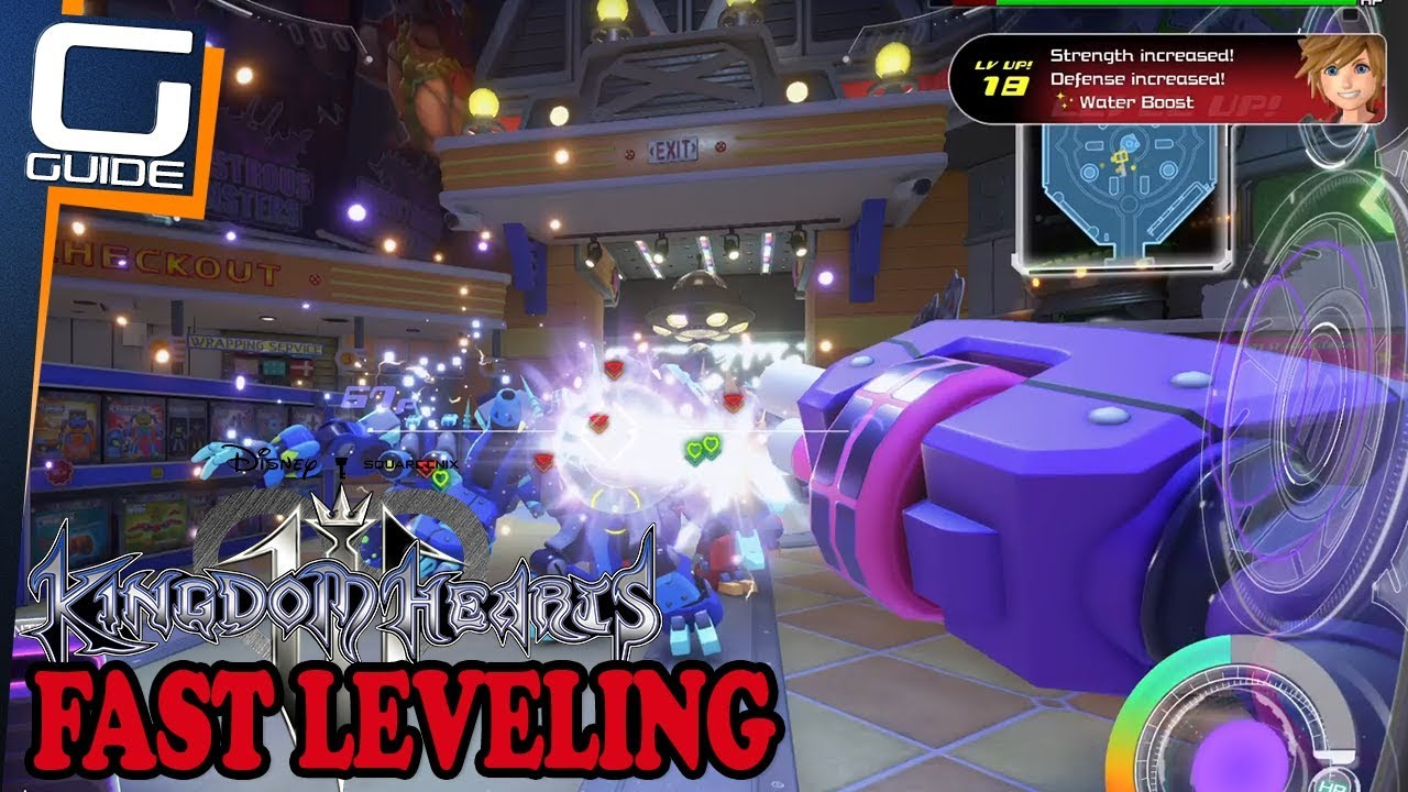 Kingdom Hearts 3 Fast Easy Exp For Early Game Fast Easy Leveling Youtube