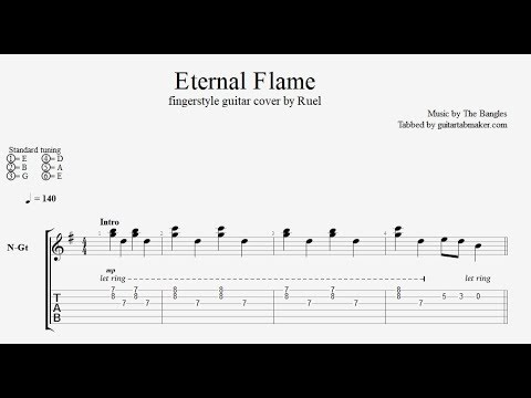Eternal Flame fingerstyle TAB - cover by Ruel
