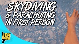 GTA V : First Person Skydiving & Parachuting! (PS4 Grand Theft Auto 5 Gameplay)