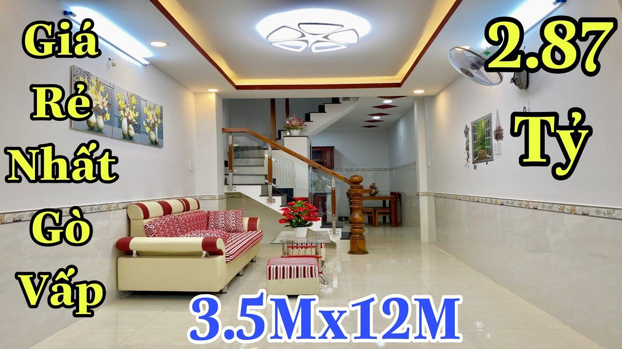 Bán nhà Gò Vấp dưới 3 tỷ| Nhà phố đẹp 3,5x12m thiết kế cực xinh và hợp lý| giá rẻ 2,87 tỷ