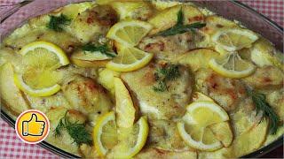 Запеченная Рыба с Яблоками   Baked Fish with Apples
