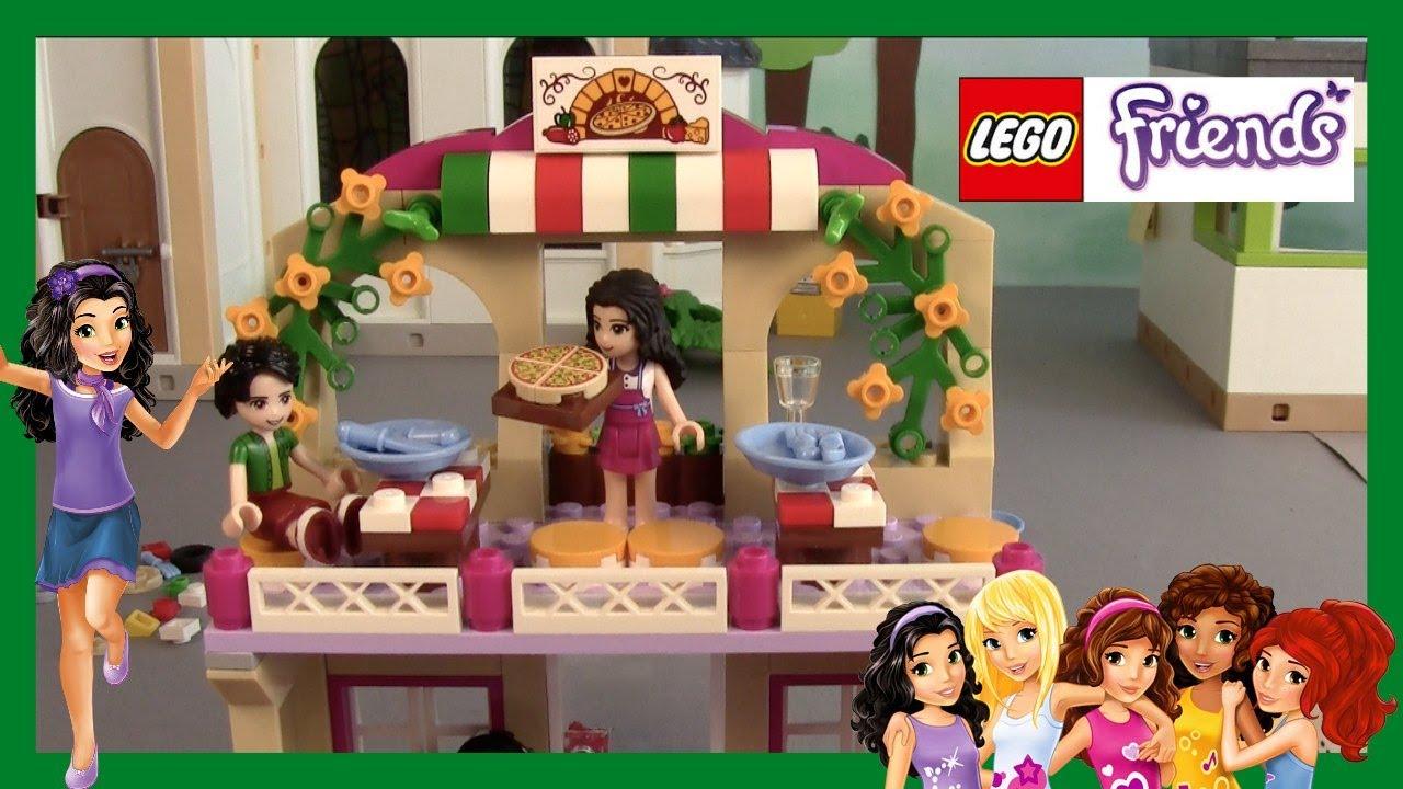 Lego Friends 41311 Heartlake Pizzeria Demo Unboxing Deutsch