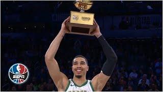 Jayson Tatum sinks a half-court shot to win the 2019 NBA Skills Challenge | NBA All-Star 2019
