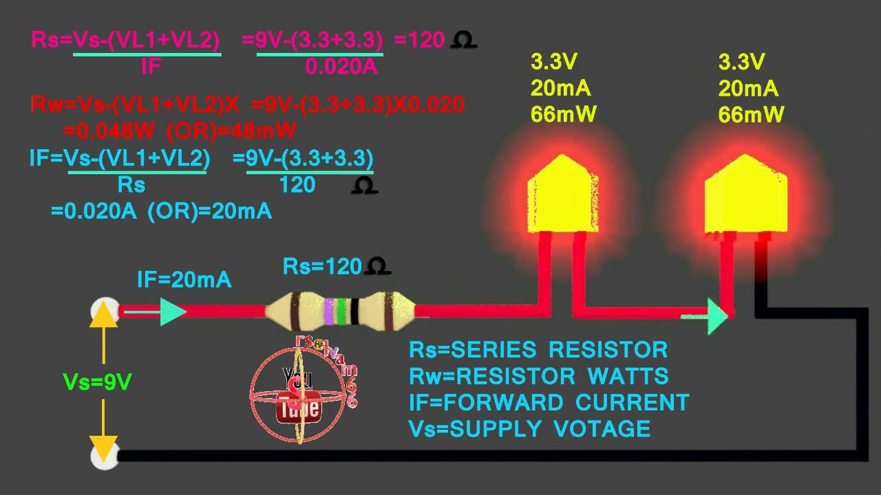 3.3v &3.3v LED How To Connect 9V Series Circuit, How To