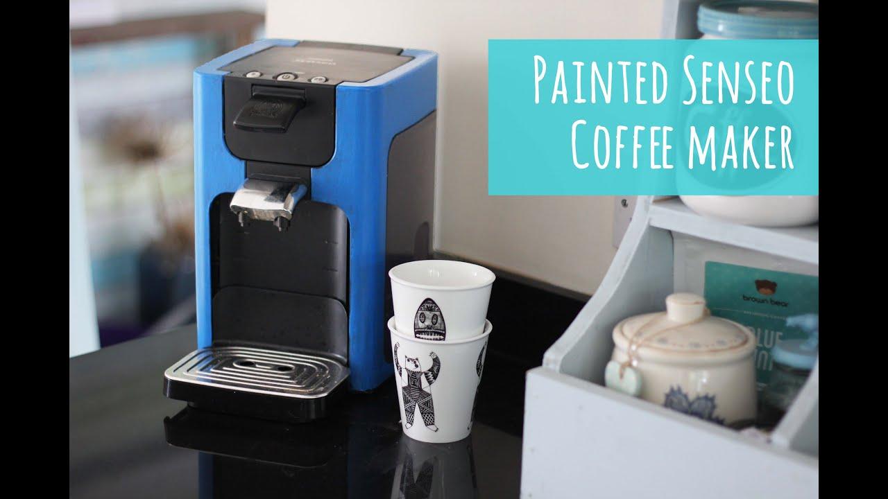 Painted Senseo coffee machine - YouTube