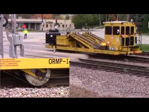 How a Railroad Replaces Ties: Every Machine Shown