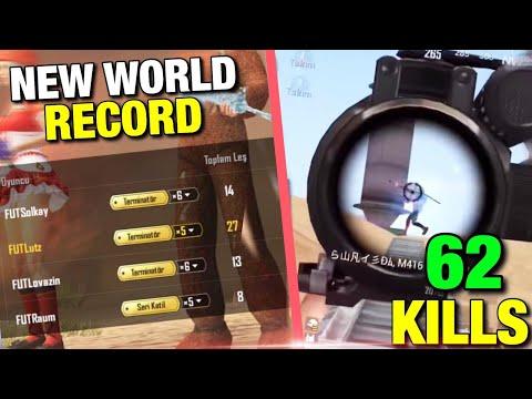 62 KILLS WORLD RECORD Ace Rank Miramar - Pubg Mobile - Raum , Lovazin , Solkay , Lutz , Futbolist
