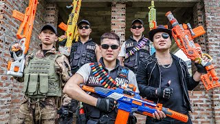 LTT Game Nerf War : Two Warriors SEAL X Nerf Guns Fight Criminal Group Braum Crazy Escape Plan