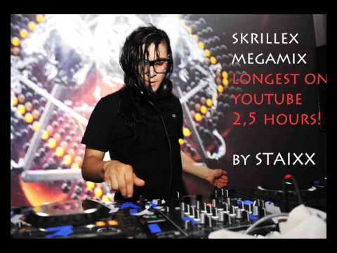 SKRILLEX MEGAMIX 2.5 HOURS   (LONGEST ON YOUTUBE !)HD 1080p