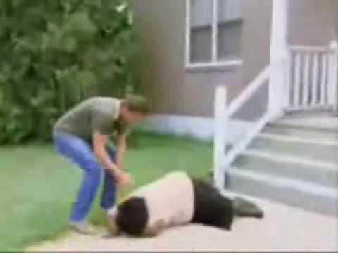 Lady Falls On Tv Youtube