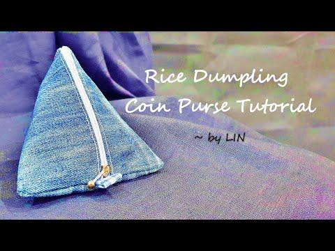 旧牛仔裤做成布粽子,只能装钱买肉粽子啦!【端午节快乐】rice-dumpling-coin-purse-tutorial