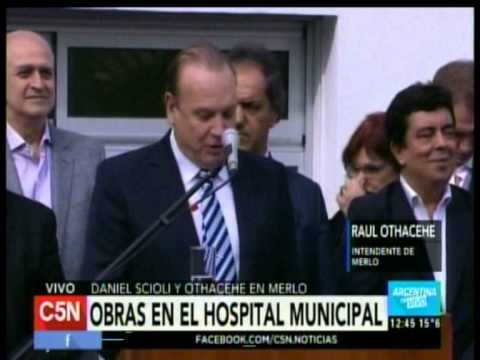 C5N - SALUD: SCIOLI Y OTHACEHE PRESENTAN OBRAS EN EL HOSPITAL MUNICIPAL DE MERLO