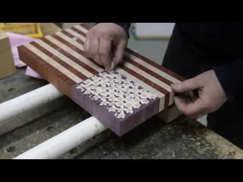 """Making a """"US flag"""" end grain cutting board (version for woodworkers)"""