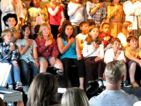 "Prospect Sierra School 4th Grade Sings ""We Are The Children"""