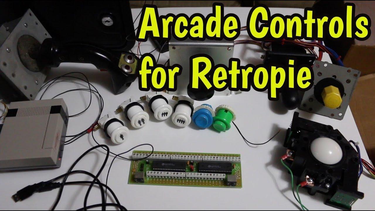 Arcade Controls Retropie - Testing Some Accumulated Parts