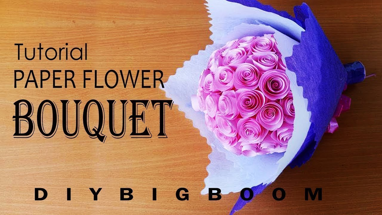 How to make paper flower bouquet step by
