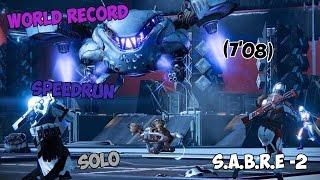 WR! Fallen S.A.B.E.R Nightfall Solo Speedrun (7'08) [Nuit Noire]