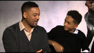 Jaden Smith & Will Smith talk AFTER EARTH, Kissing in Public, Singing Together & Fresh Prince