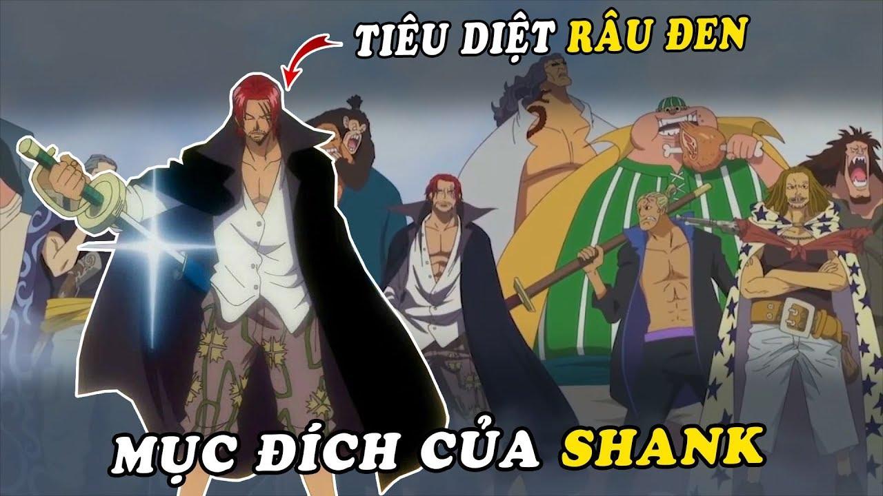 Mục đích của tứ hoàng Shanks trong One Piece – Giúp đỡ Luffy và diệt trừ Râu Đen