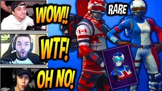 Streamers React to RARE Alpine Ace & Mogul Master Skins Fortnite Item Shop Live Today Moments