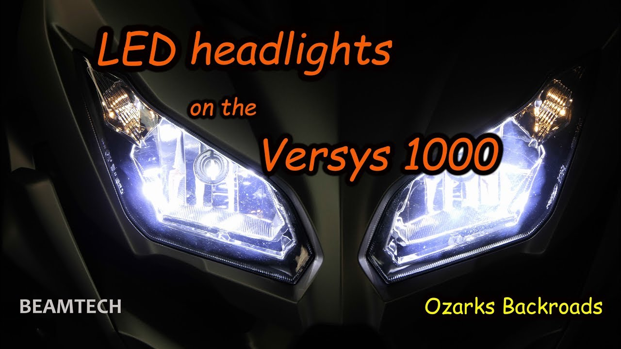 Led Headlights For The Kawasaki Versys 1000 Youtube