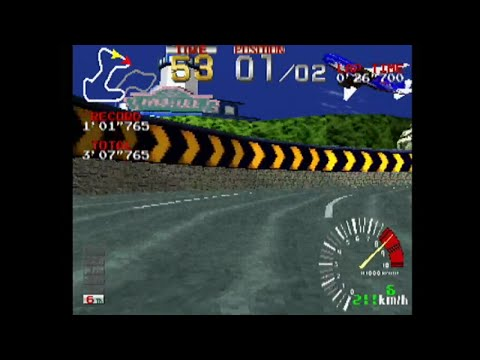 [60fps] リッジレーサーハイスペックVer(1998年) - レース編 [GV-VCBOX,GV-SDREC]