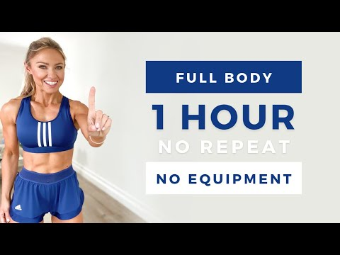 1 HOUR INTENSE FULL BODY WORKOUT | Low Impact & No Equipment