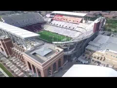 Texas A&M Kyle Field Aerial footage from drone