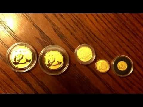 Beautiful 2015 Chinese Panda Gold Coin Collection!